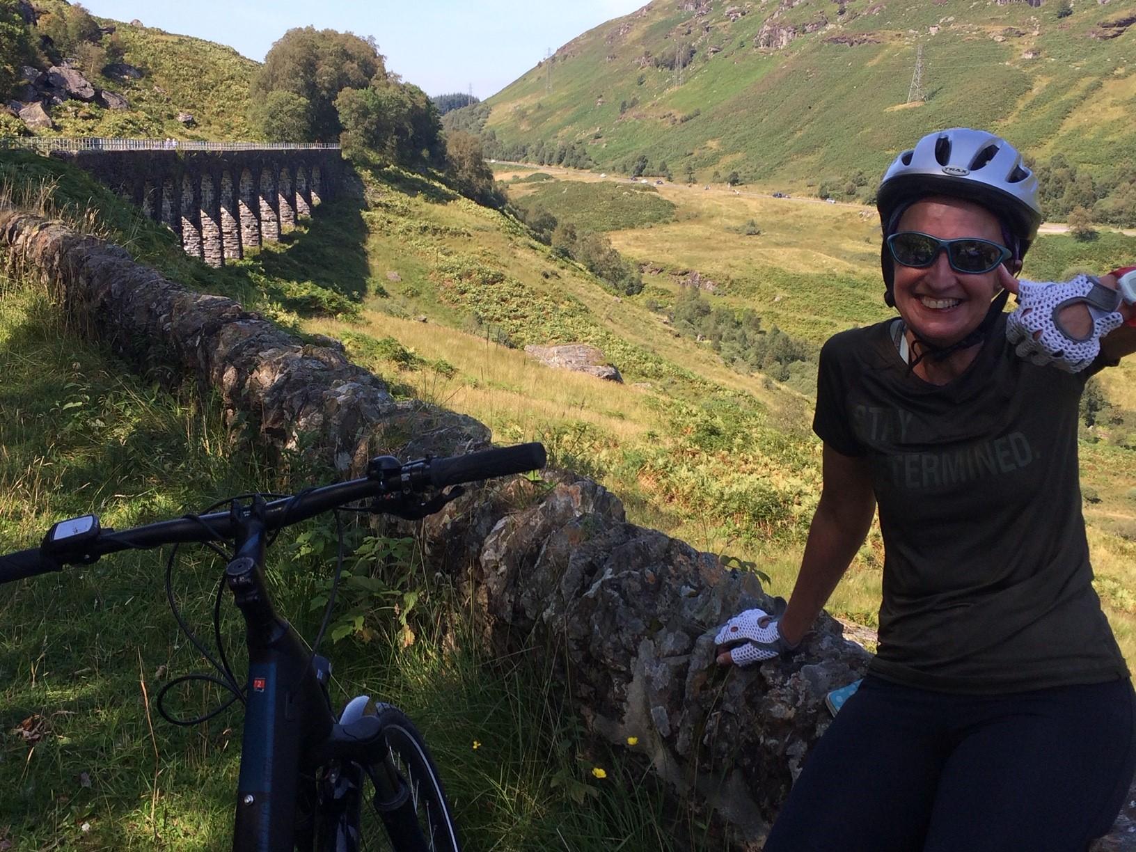 cycling up glen ogle scotland
